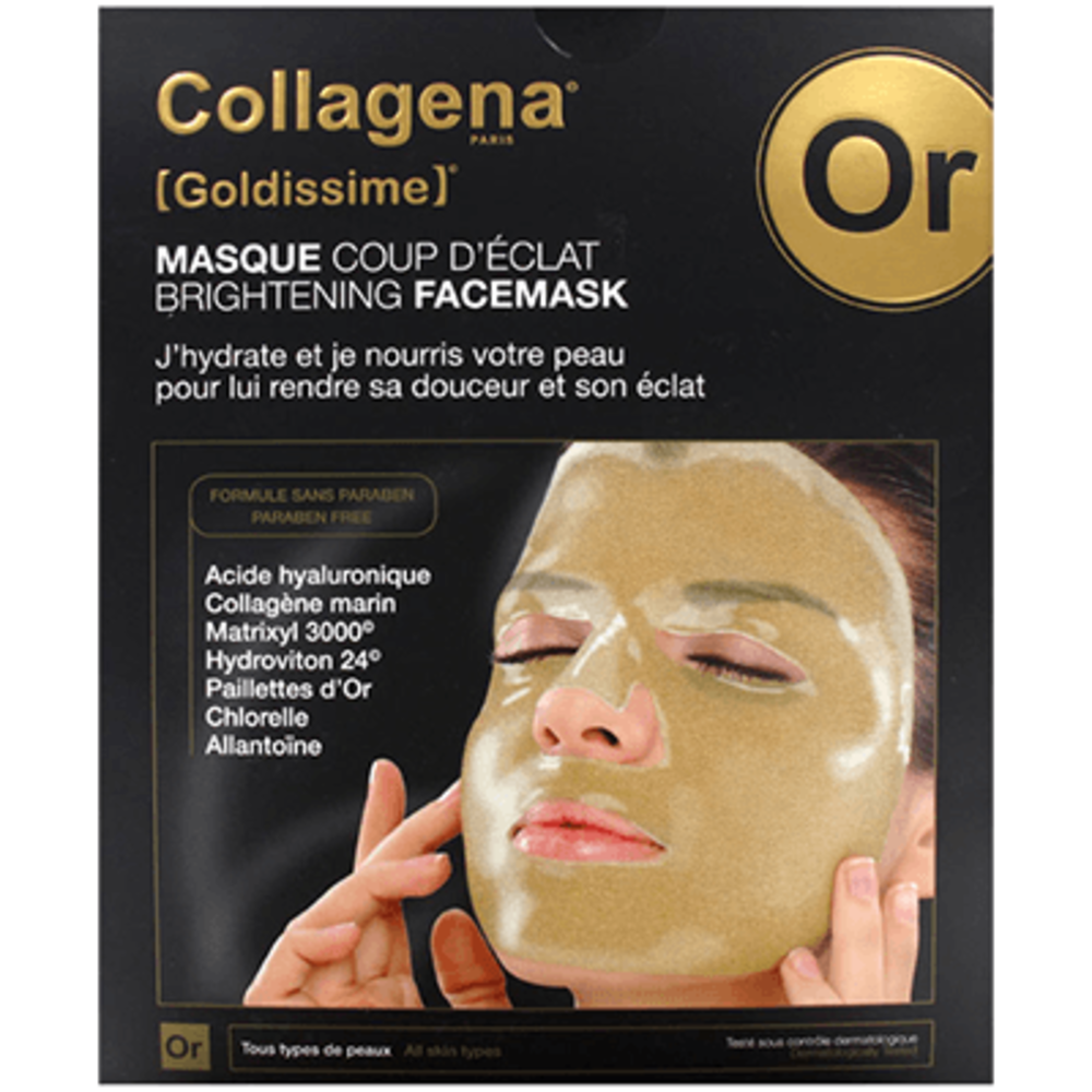 Collagena goldissime masque hydrogel coup d'éclat x5 - collagena -215635