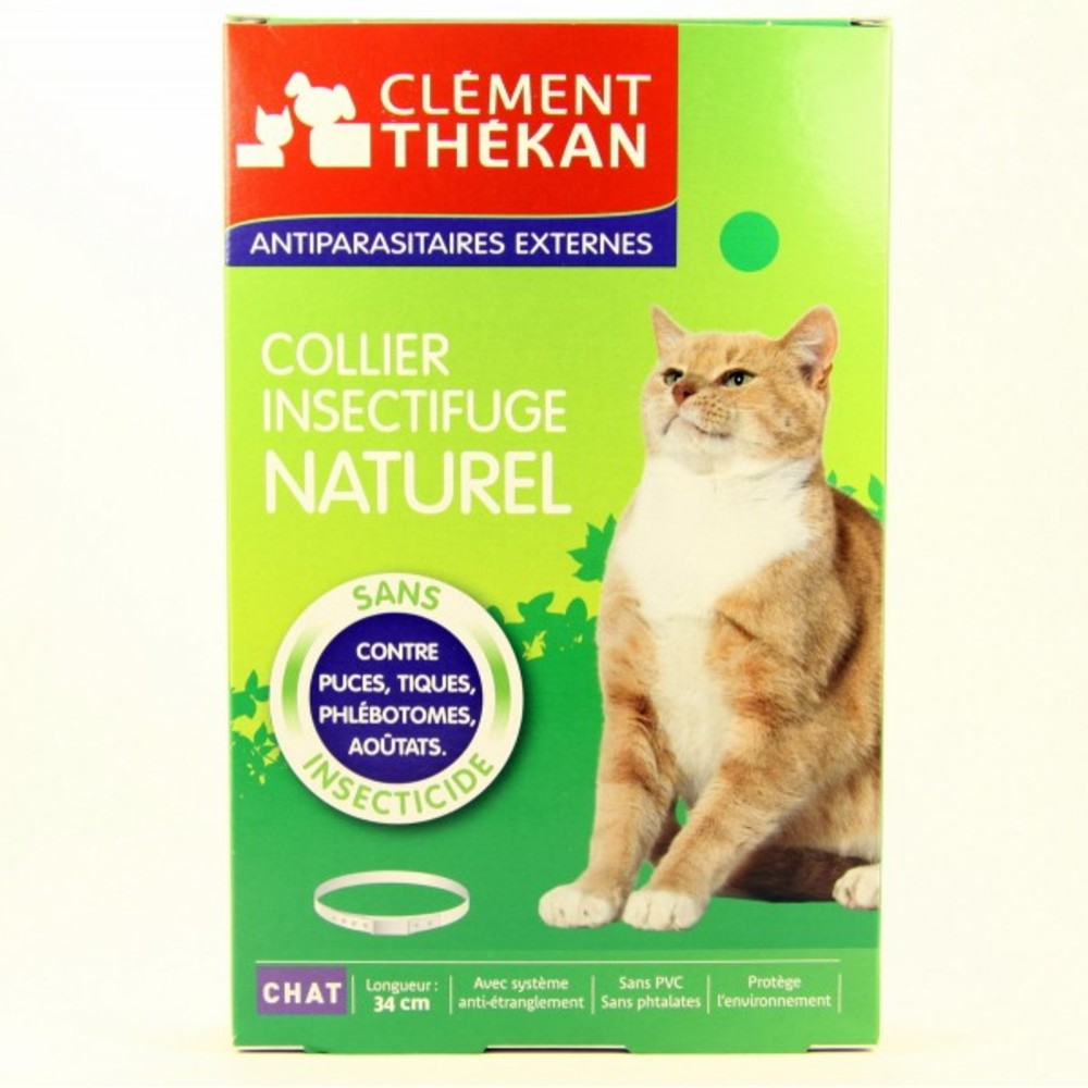Collier insectifuge naturel chat - puces et tiques - clement-thekan -138894
