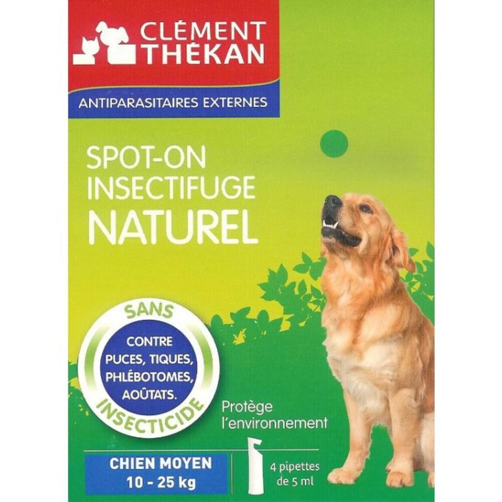 Collier insectifuge naturel chien - puces et tiques - clement-thekan -138893