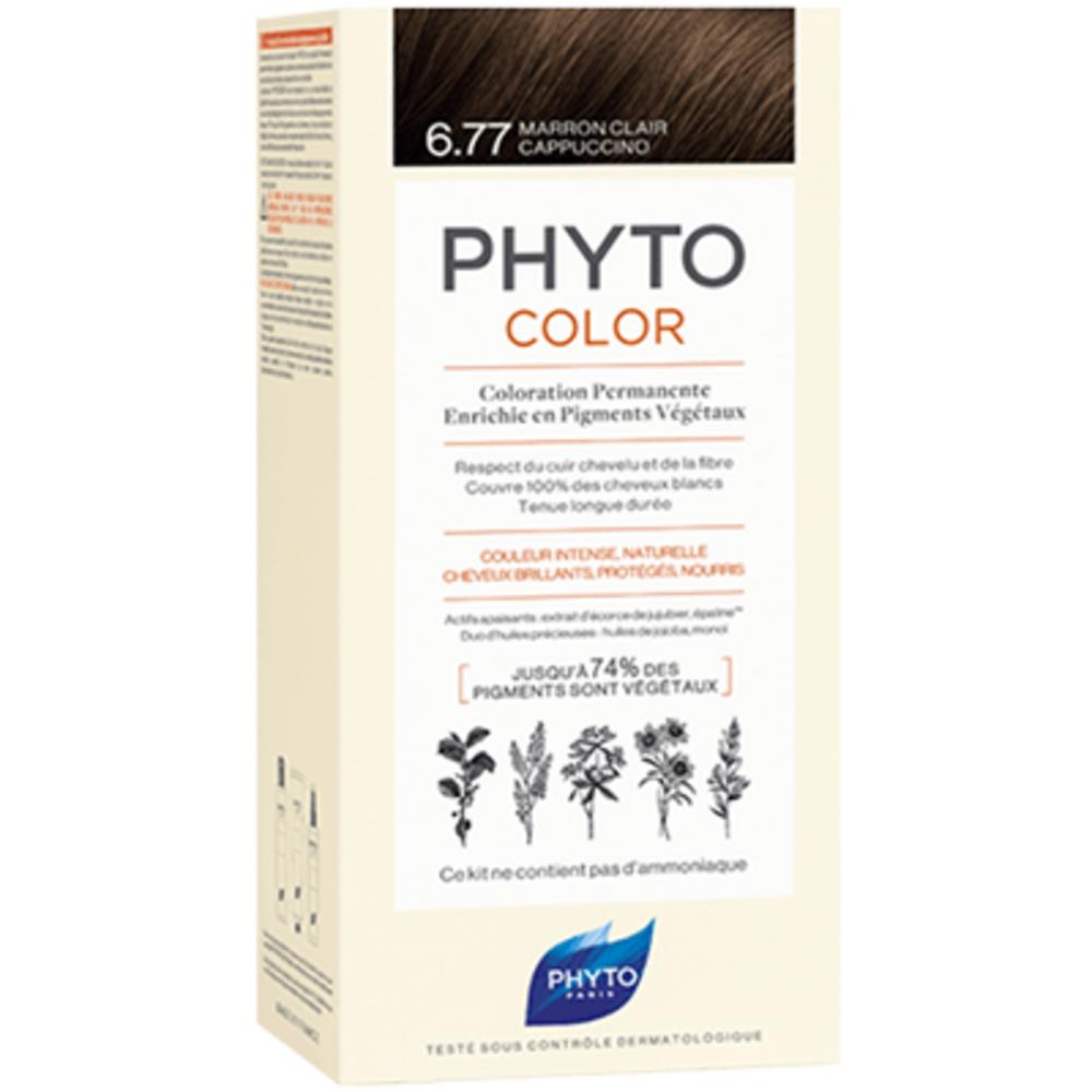 Color 6.77 marron clair cappuccino Phyto-223184