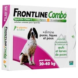 Combo chiens 20 à 40 kg - 6 pipettes - frontline -144225