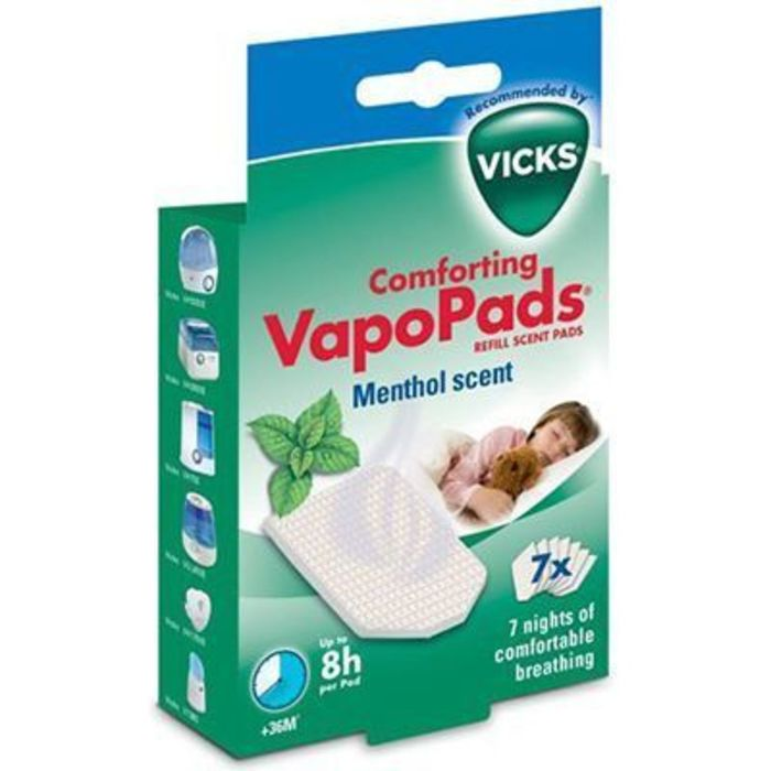Comforting vapopads menthol 7 tablettes Vicks-140463