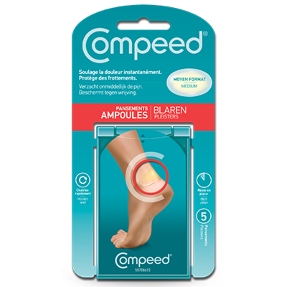 prix de compeed ampoules moyen format x5 pansements. Black Bedroom Furniture Sets. Home Design Ideas