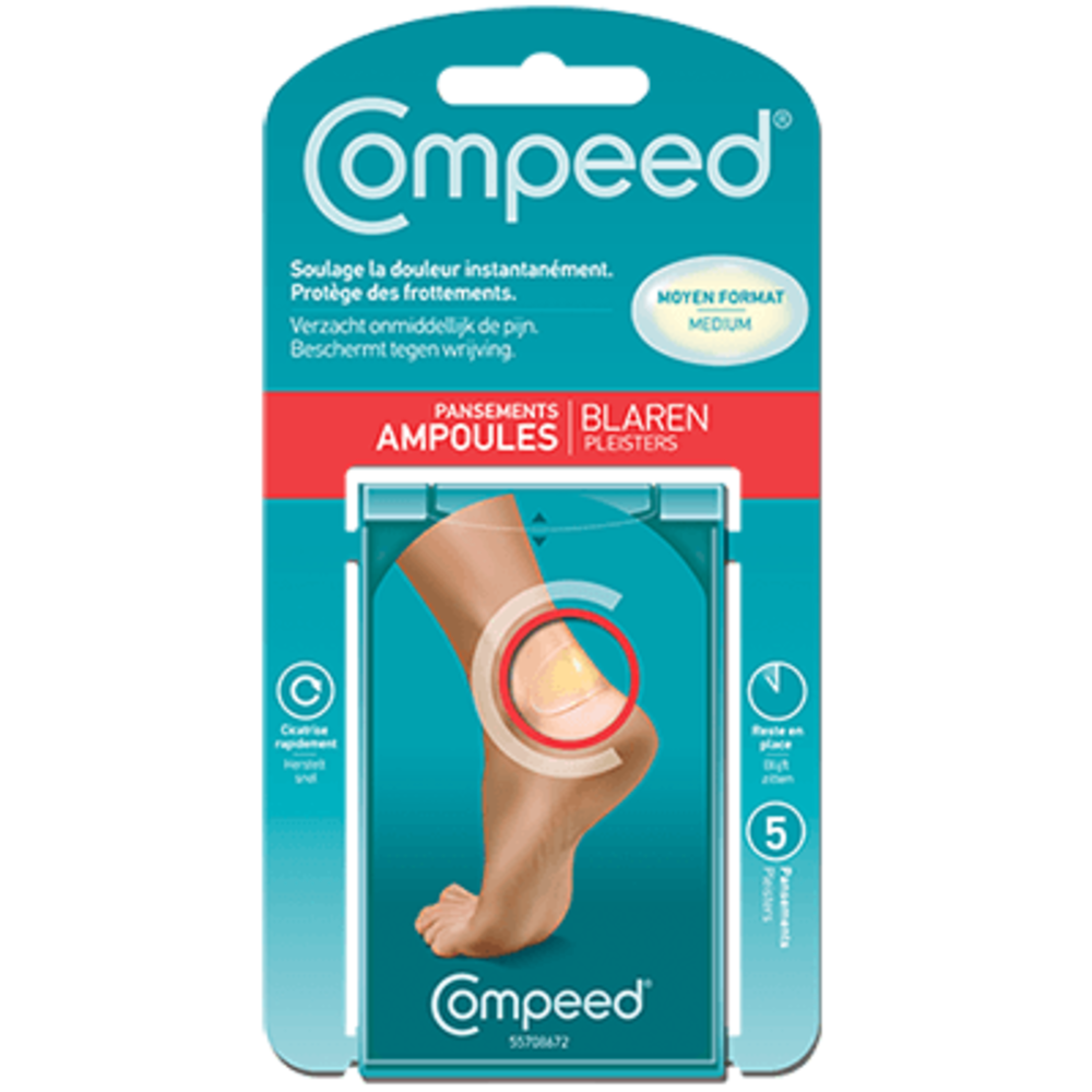 Compeed pansements ampoules moyen format x10 - compeed -225414