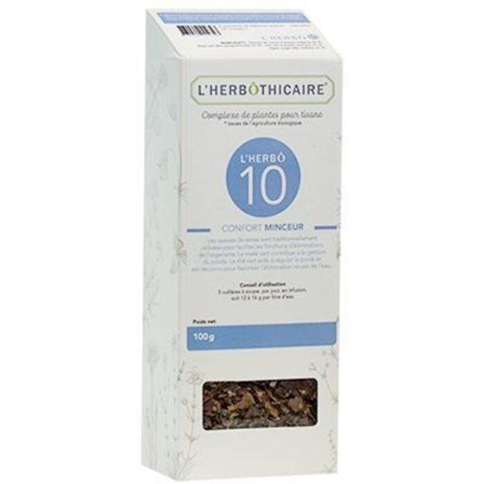 Complexe de plantes pour tisane n10 minceur 100g L'herbothicaire-220330