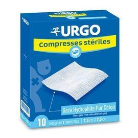 Compresses stériles 7.5x7.5cm - 10 sachets de 2 compresses - urgo -191748