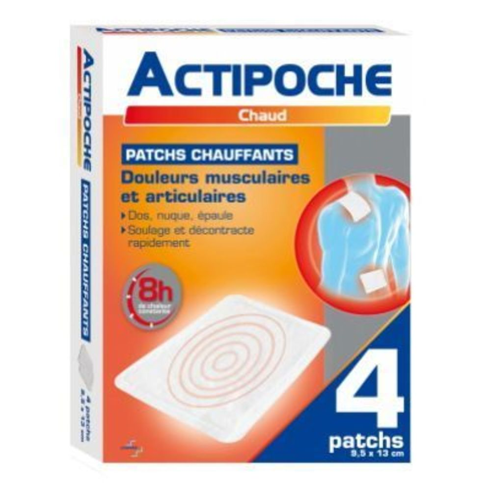 COOPER Actipoche 4 Patchs Chauffants 9,5 x 13 cm - Actipoche -219170