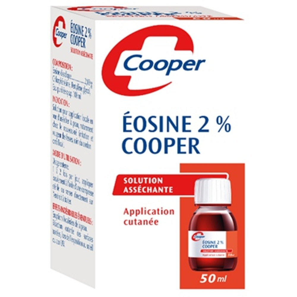 Cooper eosine 2% solution asséchante 50ml Cooper-209524