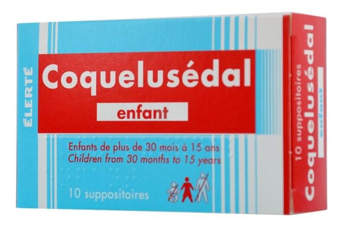 Coquelusedal enfant - 10 suppositoires Laboratoire elerte-192741