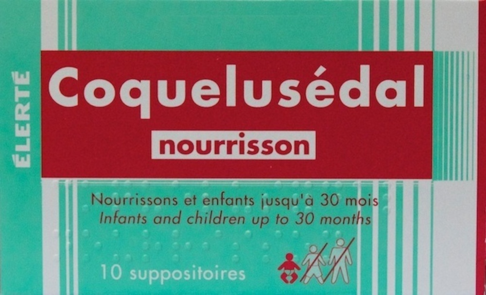 Coquelusedal nourrisson - 10 suppositoires - laboratoire elerte -192735