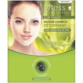 Cosmétotextile soin visage masque charbon détoxifiant - lytess -219312