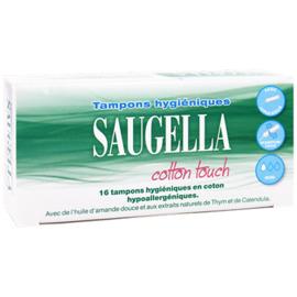 Cotton touch 16 tampons hygiéniques mini - saugella -220702