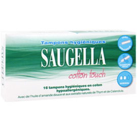 Cotton touch 16 tampons hygiéniques normal - saugella -220701