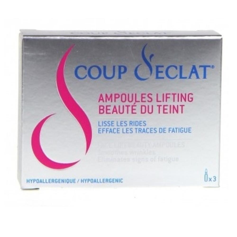 Coup d'eclat ampoules lifting immédiat x3 - coup eclat -120530