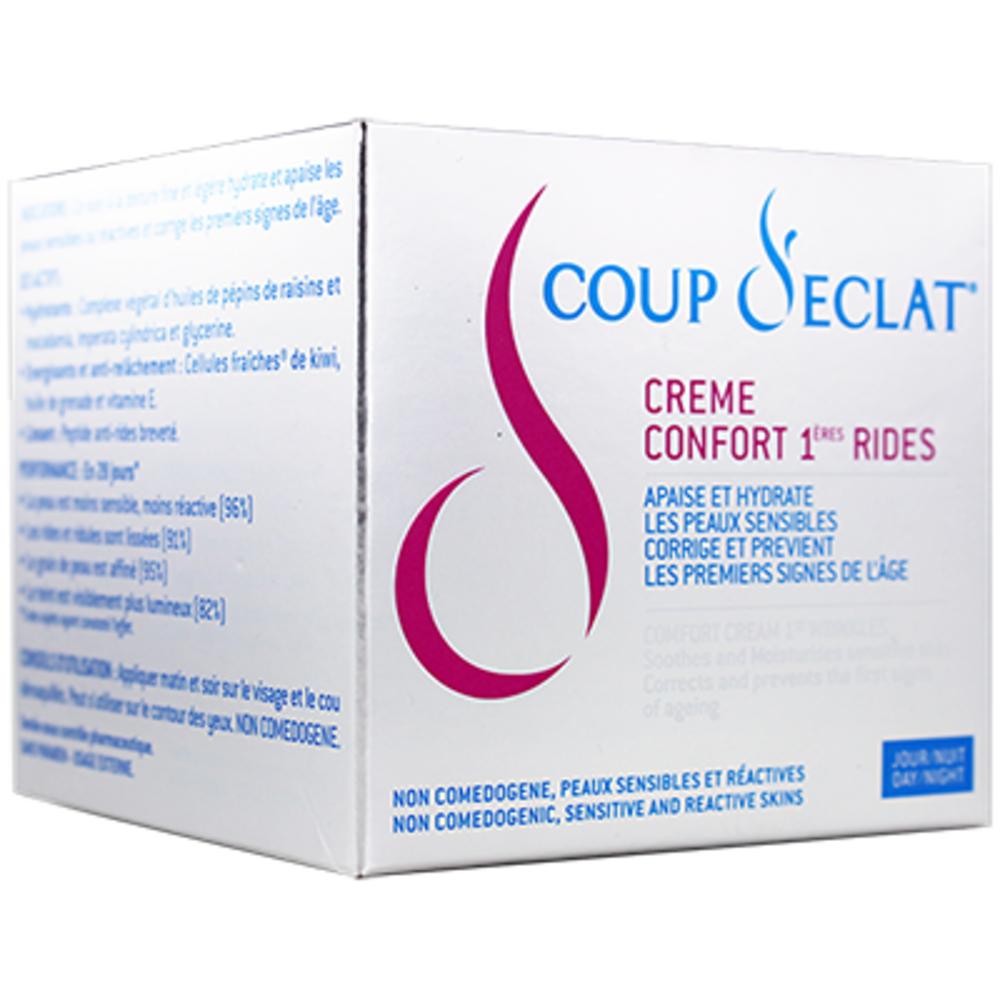 Coup d'eclat crème confort 1ères rides - 50 ml - coup eclat -206131