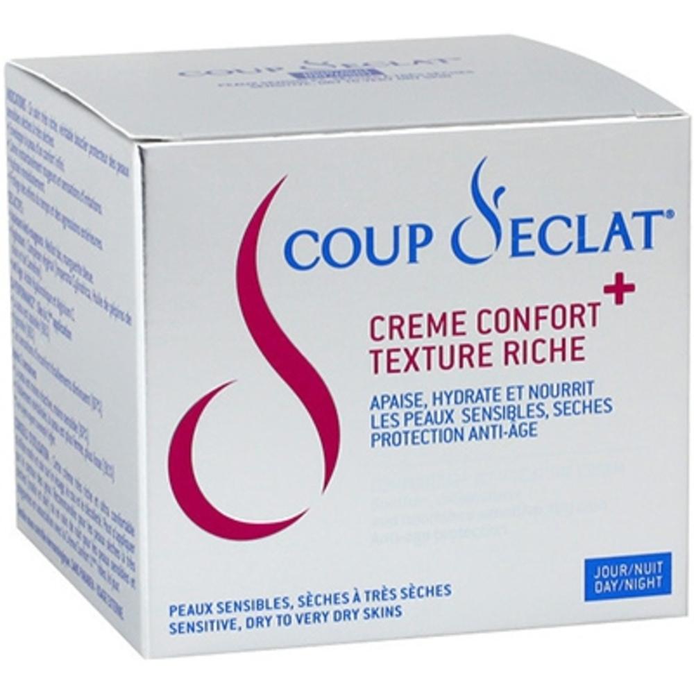 Coup d'eclat crème confort+ texture riche - 50 ml - coup eclat -206150