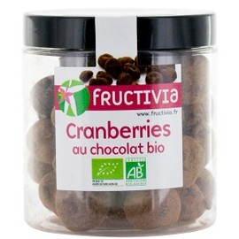 Cranberries au chocolat bio - pot de 150 g - divers - fructivia -139891