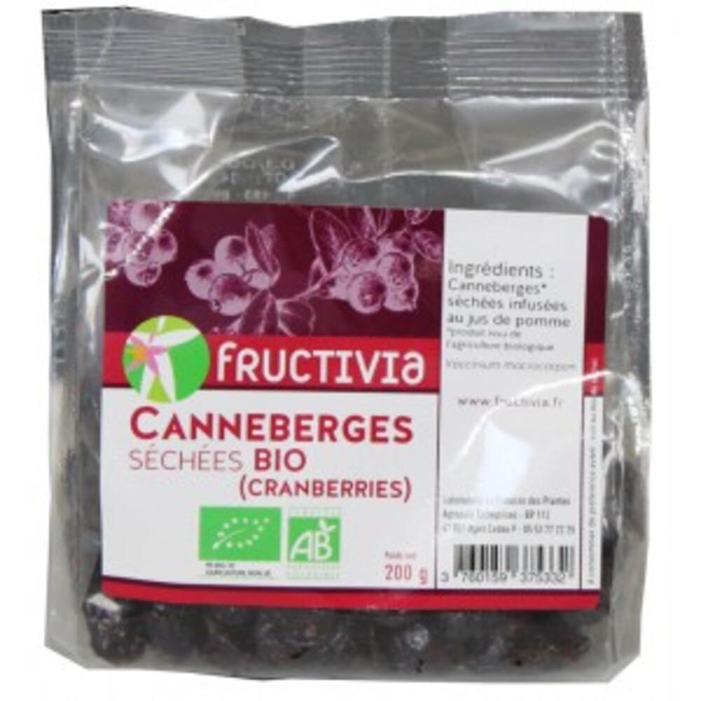 Cranberries entières séchées bio - 200 g - divers - fructivia -189184
