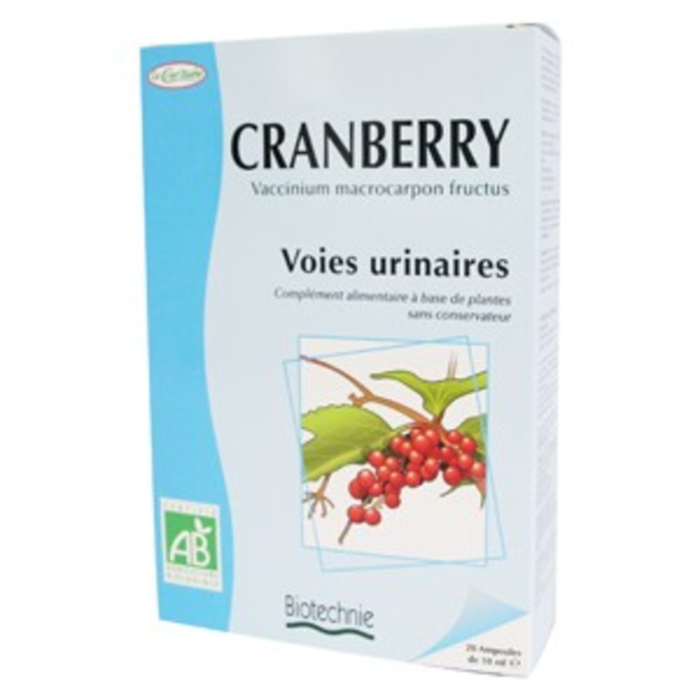 Cranberry bio - 20 ampoules - divers - biotechnie la cour'tisane -136597