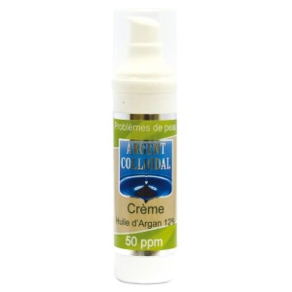 Crème beauté argan- argent colloïdal 50ppm  - tube 50 ml - divers - ag colloidal -188680