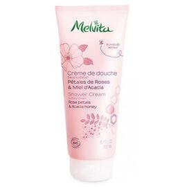 Crème de douche rose & miel acacia bio 200ml - gels douche miels et fleurs - melvita -213437