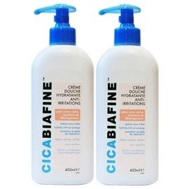 Crème douche anti-irritations - lot de 2 - 400.0 ml - dermo-cosmétique - cicabiafine 2 x 400ml-140957