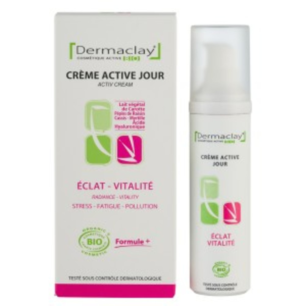 Crème jour eclat vitalité - 50.0 ml - les crèmes de jour et de nuit - dermaclay Eclat - vitalité-6053