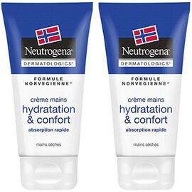 Crème mains hydratation & confort 2x75ml - neutrogena -214460