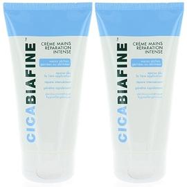 Crème mains réparation intense - lot de 2 - 75.0 ml - dermo-cosmétique - cicabiafine Spécialement conçue pour les peaux sèches et abîmées-116047