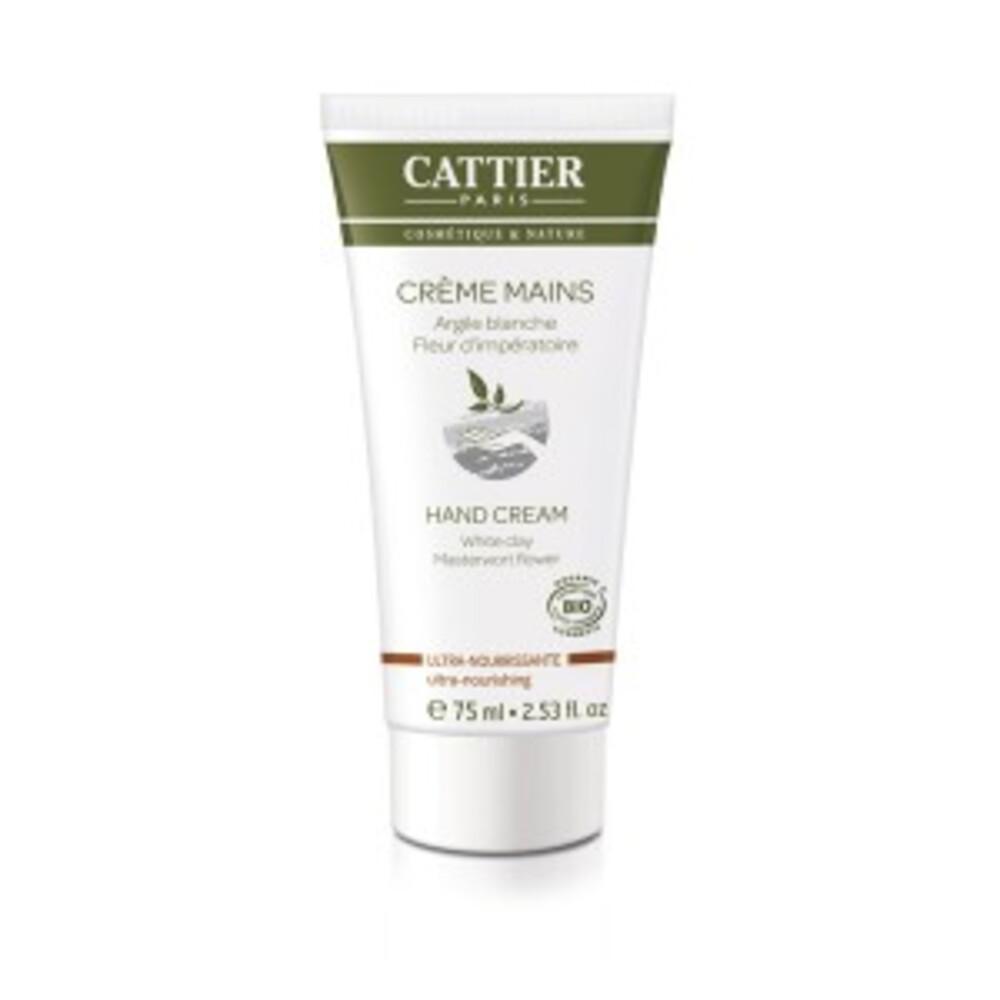 Crème mains ultra-nourrissante bio - tube 75 ml - hygiène corps - cattier -141868