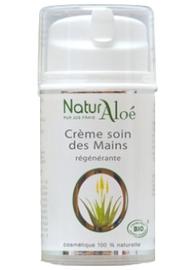 Crème régénérante pour les mains bio - 50.0 ml - cosmétique bio à l'aloé vera - naturaloe -13542