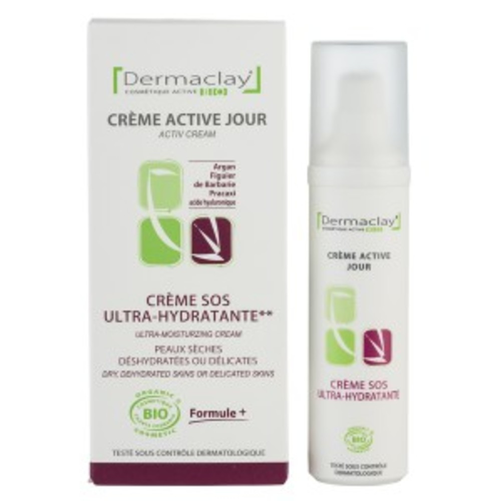 Crème sos ultra hydratante - 50.0 ml - les ongles - dermaclay -6066