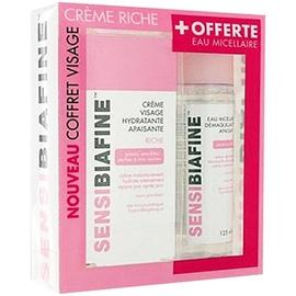 Crème visage apaisante riche 50ml + eau micellaire 125ml offerte - sensibiafine -205854
