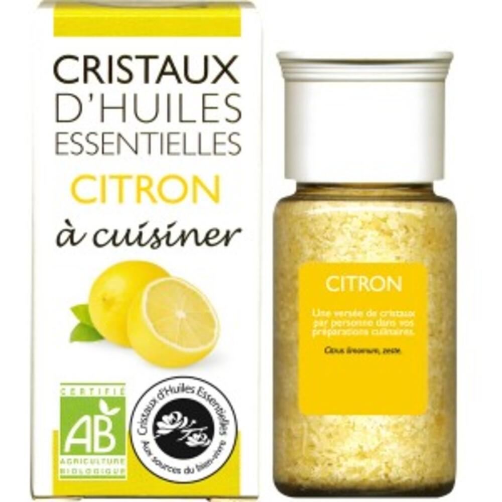 Cristaux d'huiles essentielles citron - flacon 20 g - divers - florisens -142146