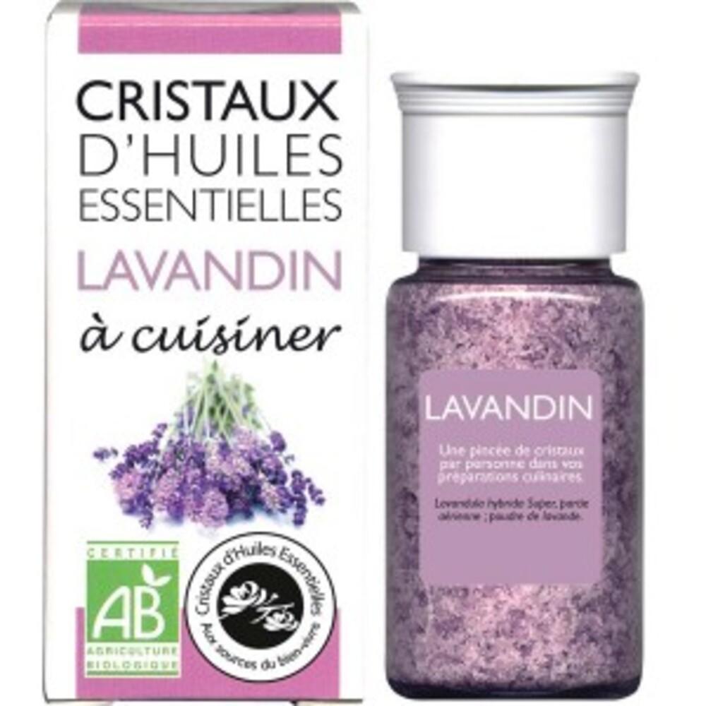 Cristaux d'huiles essentielles lavandin - flacon 20 g - divers - florisens -135804
