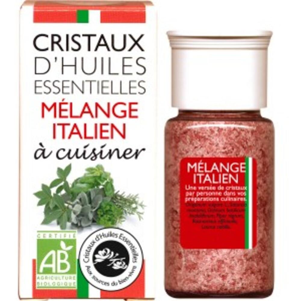 Cristaux d'huiles essentielles mélange italien - flacon 20 g - divers - florisens -142145