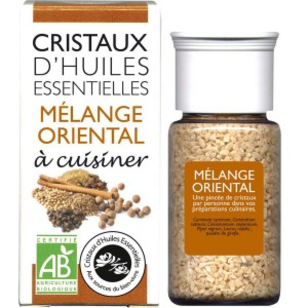 Cristaux d'huiles essentielles mélange oriental - flacon 20 g - divers - florisens -135809