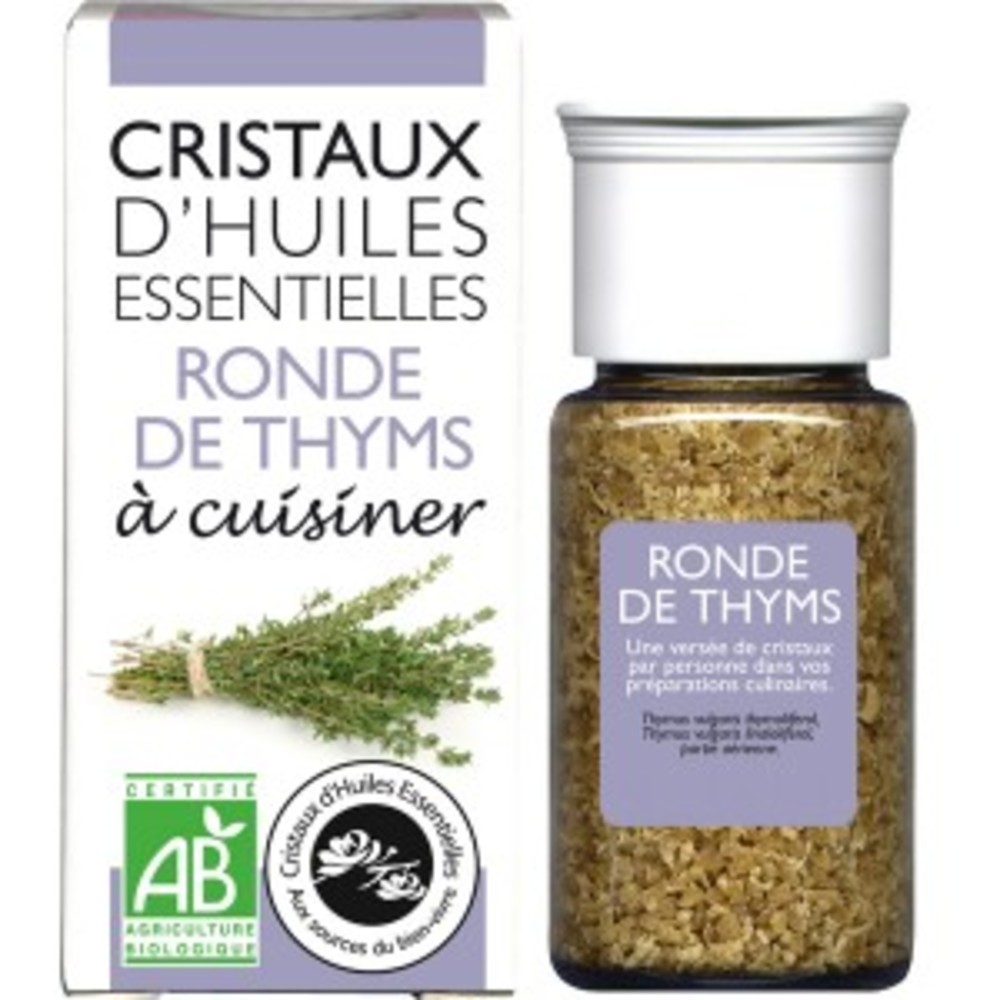Cristaux d'huiles essentielles thym - flacon 20 g - divers - florisens -135811