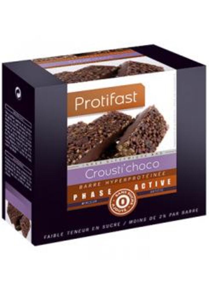 Crousti/choco x7 - protifast Barre hyperprotéinée 100% protéines d'origine végétale-148446