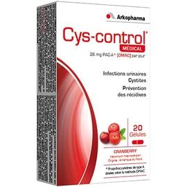 Cys control médical - 20 gélules - infections urinaires, cystites - arkopharma Cys-control® MÉDICAL gélules-191897