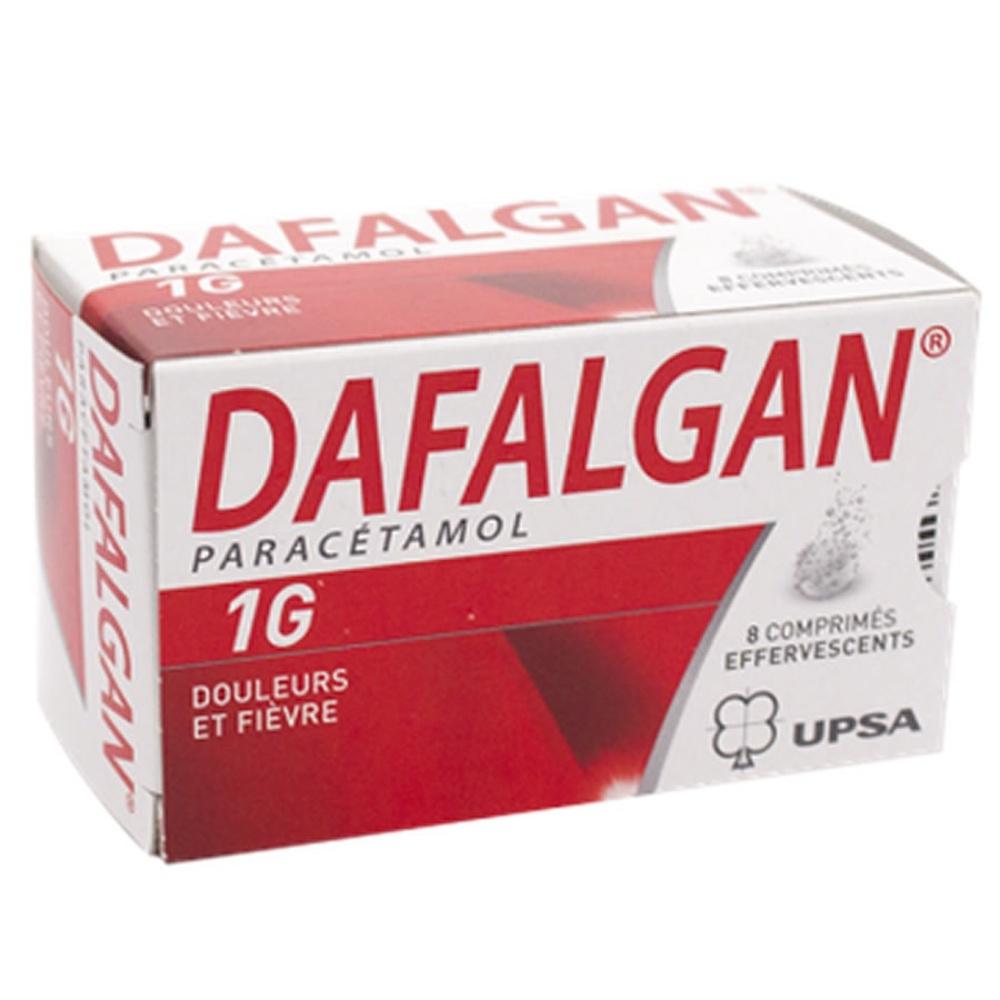 Dafalgan 1g - 8 comprimés effervescents - upsa -192185