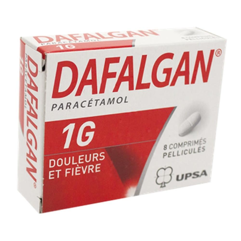 Dafalgan 1g - 8 comprimés pelliculés - upsa -192316