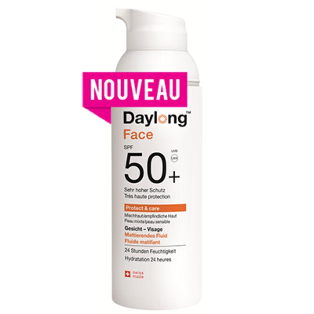Daylong face protect & care fluide matifiant spf50+ 50ml - daylong -214015