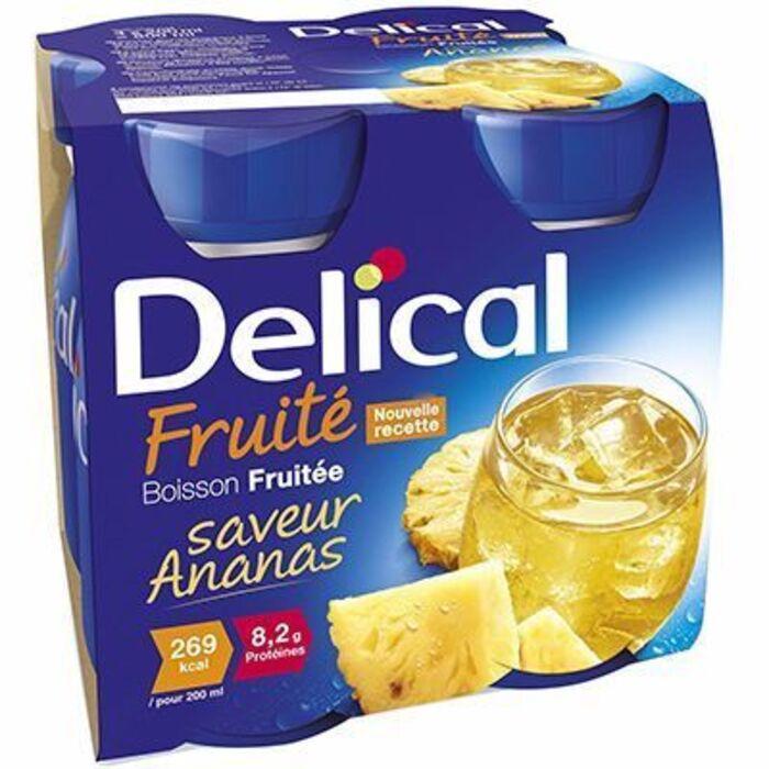 Delical boisson fruitée ananas lot de 4 bouteilles x 200ml Délical-216683