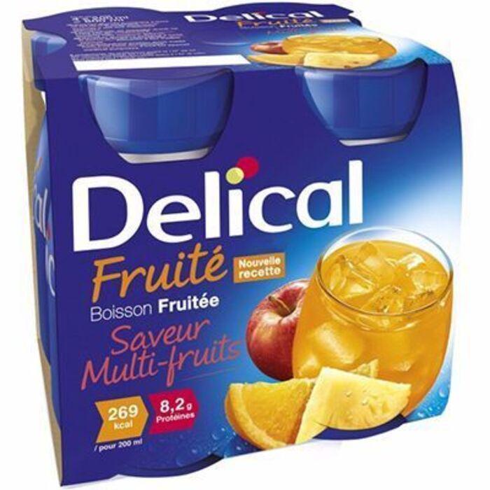 Delical boisson fruitée multi-fruits lot de 4 bouteilles x 200ml Délical-216684