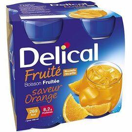Delical boisson fruitée orange lot de 4 bouteilles x 200ml - délical -216685