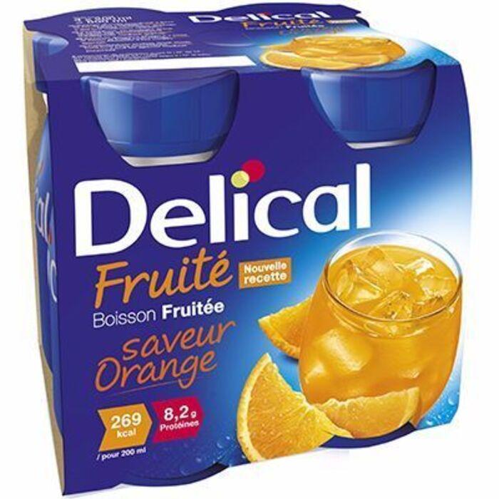 Delical boisson fruitée orange lot de 4 bouteilles x 200ml Délical-216685