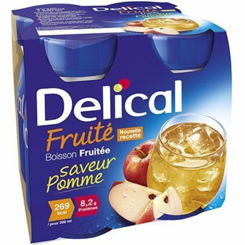 Delical boisson fruitée pomme lot de 4 bouteilles x 200ml - délical -216686