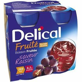 Delical boisson fruitée raisin lot de 4 bouteilles x - 200.0 ml - délical -214425