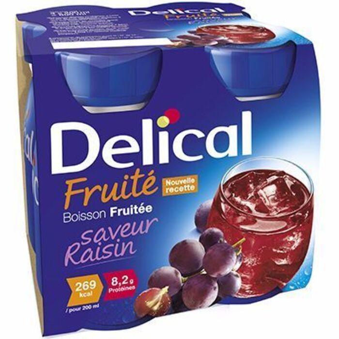 Delical boisson fruitée raisin lot de 4 bouteilles x 200ml Délical-214425